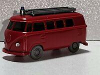 Wiking ( 603 / 4C, CS 1046 / 1A )  - VW  T1 Bus Feuerwehr , orangerot , T@P