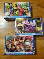 Puzzlebug 500 Piece 3 Pack Colorful Gardens