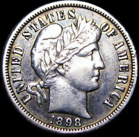 1898-O Seated Liberty Dime Silver Coin US Coin --- Nice L@@K ---- #D122