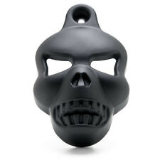 Black Motorcycle Skull Horn Cover Cowbell For Harley V-Rod Sportster Touring Evo