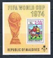 Maldive Is 1974 World Cup Football MS SG 521 MNH