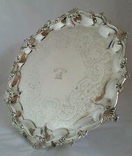 George lll sterling silver Salver.Heraldic Crest. London1801.By William Bennett