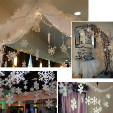 12pc 3M Snowflake White Ornaments Christmas Tree Decorations Home Festival Decor