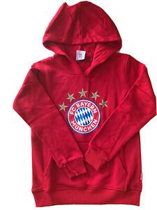 Kinder Hoodie Sweatshirt 5 Sterne Logo FC Bayern München 28351 rot mit Kapuze