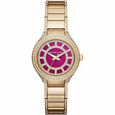 Michael Kors MK3442 Mini Kerry Fuchsia Dial Gold-tone Ladies Watch
