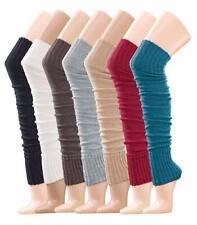 Damen-Stulpe Strick Legwarmer Socken Strümpfe Grau Beige Schwarz One Size ÖkoTex