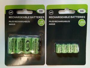 Solar Light Batteries 1/3AAA 2/3AA Mini Rechargeable NiMH Tiny Sizes