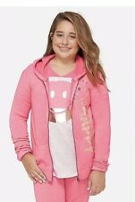 Justice Girl's Size 12-14 Positive Message Zip-Up Hoodie New with Tags