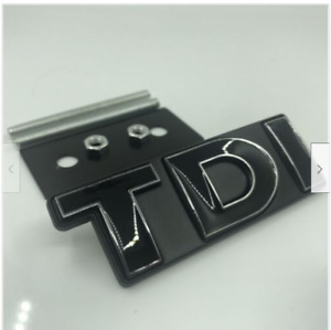 Black TDI Front Grill Grille Emblem Badge Decal for Golf Jetta Polo MK Scirocco