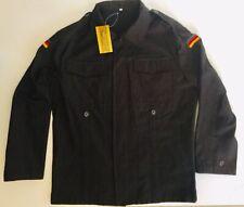 Mil-Tec German Army Men's Black Cotton Shirt Jacket  w/ German Flag Insignia