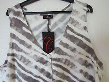 Ärmellose Damen-Shirts mit V-Ausschnitt aus Viskose