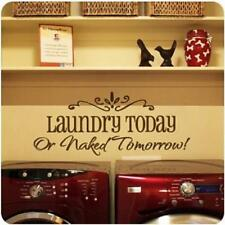 Laundry Today DIY Removable Decal Art Mural Home Decor Wall Stickers Decal JJ