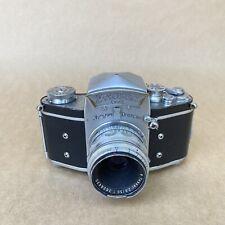 Exakta VX Ihagee Dresden 35mm SLR Film Camera W/ Carl Zeiss Tessar 50mm 2.8