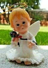 Ruth Morehead Holly Babes  Angel with painted Holly in hands Ornament