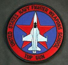 """U.S. NAVY FIGHTER WEAPONS SCHOOL TOP GUN 4"""" PATCH"""