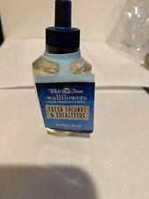1 Bath & Body Works White Barn FRESH COCONUT & EUCALYPTUS Wallflower Bulb Refill