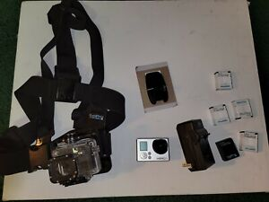 GoPro HERO3+ Silver Edition Action Camera with Case and Accessories (shown)