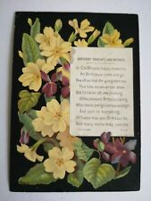Victorian birthday wishes greeting card scrap book card topper