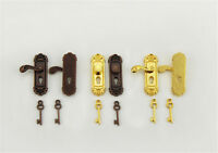 Vintage Türschloss mit Schlüssel für 1/12 Dollhouse Miniatur für Kinder Puppe ZP