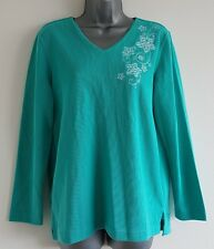 Size 10/12 Jumper Top BONMARCHÉ Jade Green Sequined Immaculate Women's Casual