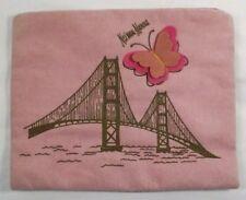 Laurice Keyloun Neiman-Marcus Bridge Butterfly Fabric Pink Zippered  7 X 6 inch