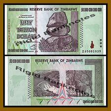 Zimbabwe 50 Trillion Dollars, 2008 P-90 Replacement (ZA) Unc