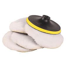 "7"" inch 180mm Soft Wool Clean Polishing Buffing Bonnet Pad for Car Auto Polisher"