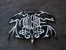 DIABOLICAL MASQUERADE,SEW ON WHITE EMBROIDERED LARGE BACK PATCH