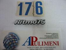 "345/75 FREGIO-LOGO-SIGLA (BADGE) FIAT ""RITMO 75"" IN PLASTICA"