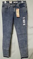 """LEVI'S Women's Blue 711 Jeans Mid Rise Skinny Size 6   29 X  28 1/2   Tag 28"""""""