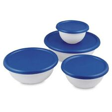 Multipurpose 8 Piece Covered Bowl Set with Lids White