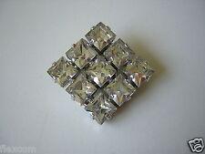 Bisutería bufanda clip con pedrería forma de cubo 13,7 G/2,8 x 2,8 cm