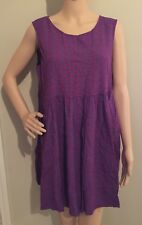 L purple NWT GEOMETRIC PRINT BABYDOLL blouse by NATURAL LIFE