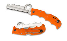 "Spyderco Assist C79PSOR Rescue Knife 3.687"" ComboEdge Blade, Orange FRN - Dealer"