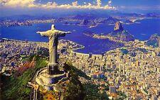 RIO DE JANEIRO BRAZIL CHRIST REDEEMER CRISTO REDENTOR 16x20 CANVAS PRINT 1