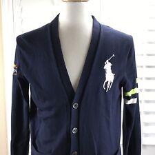 Polo Ralph Lauren Big Pony Cardigan Sweater Men S Cotton Blue US Open 2011