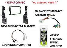 2004-2008 Acura Tl Radio Dash Kit, Harness, woofer adapter & steering Wheel (Fits: Acura)