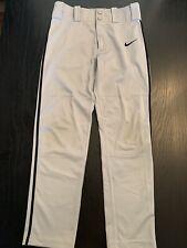 Nike Dri-Fit Boys Youth Kids Baseball Pants Gray Size Medium