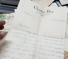 Old vintage Correspondence Letter of Christian Dior from India 1955
