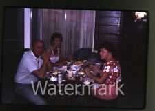 1963  Kodachrome photo slide Outdoor barbeque Dinner Value Line Beer Can