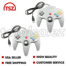 2 For Nintendo 64 N64 USB Grey Controller JoyPad Remote Video Game System