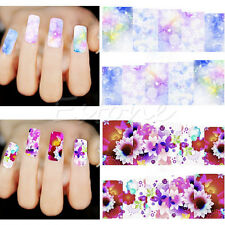 50 Sheets Nail Art  Flower Wrap Water Transfer Slide Flower Decals Stickers NEW