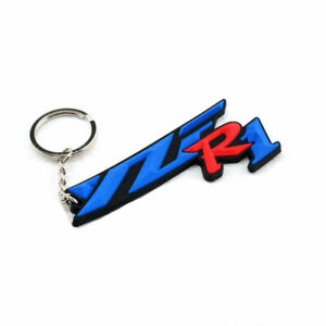 Yamaha YZF R1 Motorcycle Rubber Keyring Keychain Key Chain Key Ring ForGift