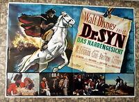 WALT DISNEY * DR. SYN DAS NARBENGESICHT A0-FILMPOSTER EA German 2-Sheet ´65 RAR