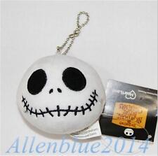 Christmas Jack Skellington Soft Mini Plush Pendant Doll Keychain Xmas Gift 7.5cm