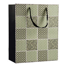 6 Pack Classy Checker Quilt Paper Gift Bag Christmas Packaging Gift Tote Pouch