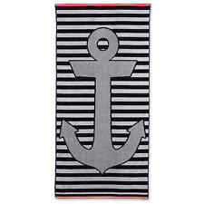 Stripe Anchor Beach Towel in Blue