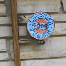 Stover Engine Motor logo emblem Stovers Service Part Sale Wall Post sign Usa