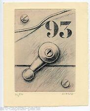 KLASEN PETER GRAVURE ORIGINALE SIGNÉ AU CRAYON NUM/70 HANDSIGNED NUMB/70 ETCHING