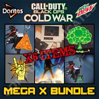 Call of Duty Black Ops Cold War  MEGA X BUNDLE ROCKSTAR DEW DORITOS CHIP CODES